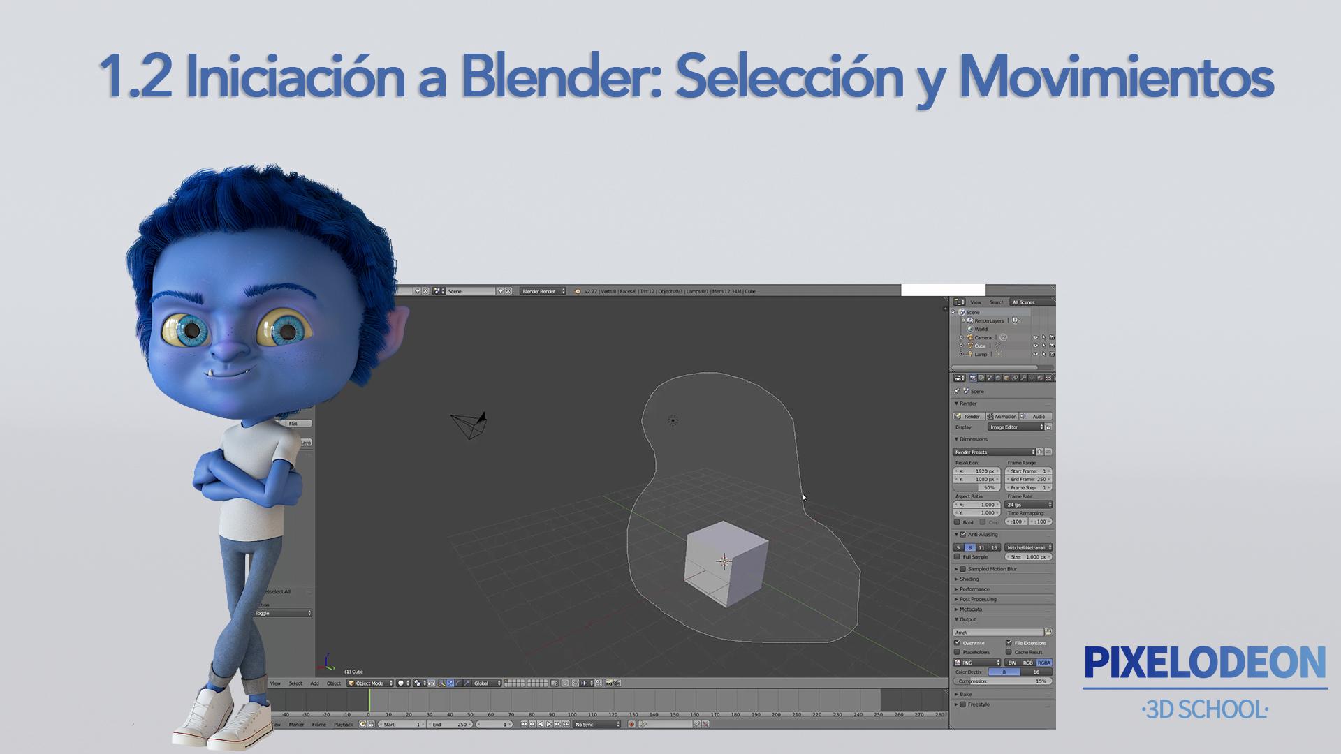 Portada tutorial 2 Iniciación a Blender
